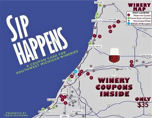 SIP HAPPENS Winery Coupon Card - 500 px