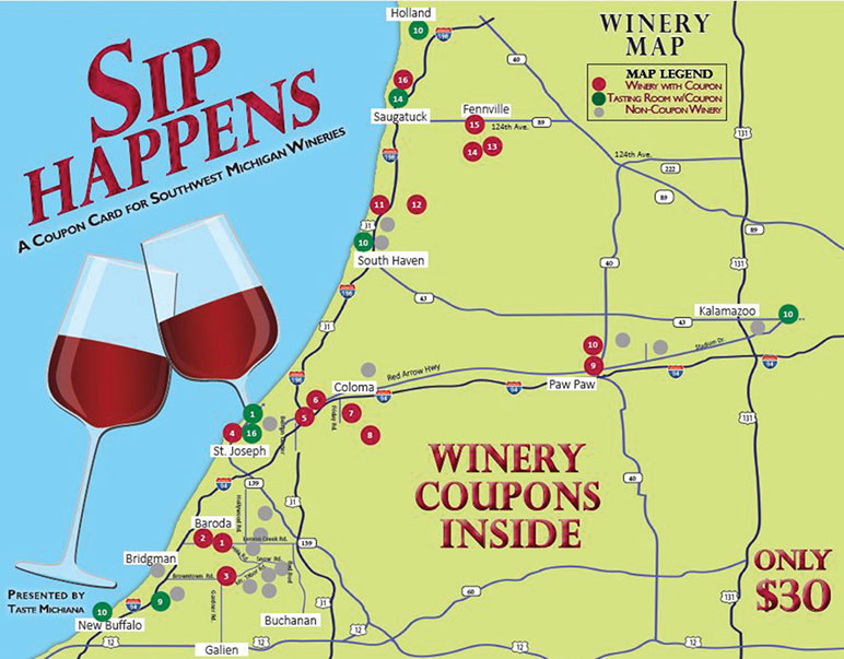 Sip Happens Winery Coupons Taste Michiana