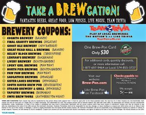 Brew-Pon Brewery Coupons Inside Cover Page