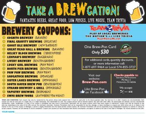 BREW-PON BREWERY COUPON INSIDE COVER
