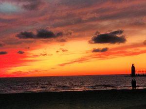 Lake Michigan Sunset - Sip Happens Winery Coupons