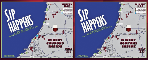 2 Sip Happens Cards for $60 - 500 px