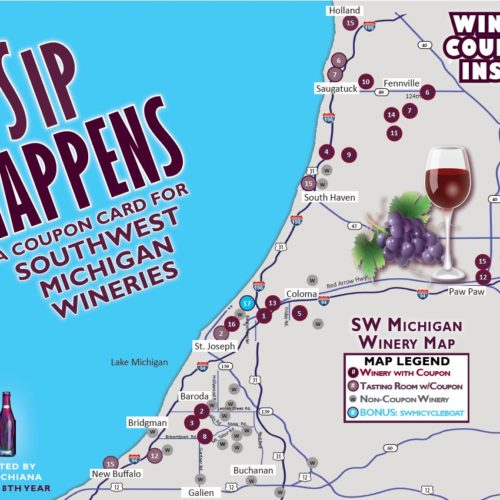 Sip Happens Winery Coupon Card 2021 Cover