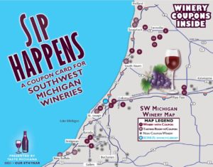 Sip Happens 2021 Winery Coupon Card Cover